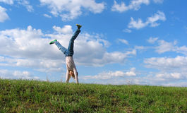 Summer Cartwheel royalty free stock images
