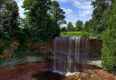 Summer Cascade Waterfall in Ontario stock images