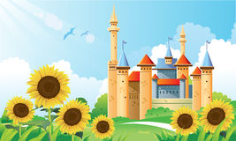 Summer Castle Background Royalty Free Stock Photo