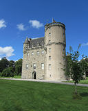 Summer at Castle Fraser, Scotland. INVERURIE, SCOTLAND, AUGUST 3 2014: Castle Fraser a baronial castle dating back to the 15th century. It is situated in Stock Image