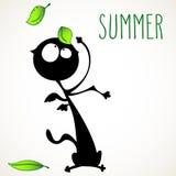 Summer cat royalty free illustration