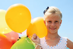 Summer, celebration, family, children and people concep Stock Images