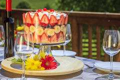 Summer celebration table Royalty Free Stock Photos