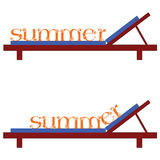 Summer chairs for a beach vector illustration Royalty Free Stock Photos