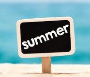 Summer on chalkboard Stock Photography