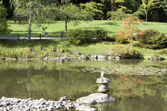 Summer charm in japanese garden Stock Photo