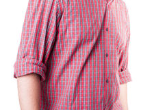 Summer chechered shirt Royalty Free Stock Image