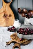 Summer cherries Stock Photo