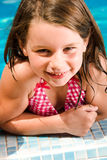 Summer Child Is Looking Into The Lens Royalty Free Stock Photos