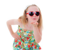 Summer child kiss royalty free stock photography