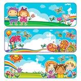 Summer Children Banners vector illustration