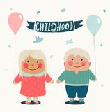 Summer Children Friends with Baloons Stock Photo