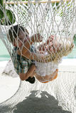 Summer children in hammock Stock Photo