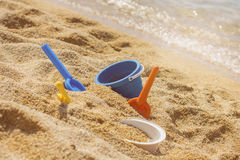 Summer Children's Beach Toys Royalty Free Stock Image