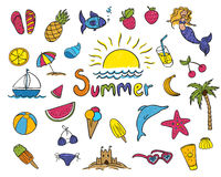 Summer Children's Drawings Stock Photo