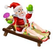 Santa 39 S Hawaiian Christmas Stock Illustration Illustration Of Ukulele 2443042