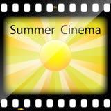Summer Cinema. Illustration summer cinema as a symbol of the film Stock Photo