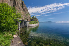 Summer on the Circum-Baikal railroad Royalty Free Stock Images