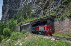 Summer on Circum-Baikal Railway. Eastern Siberia, the Irkutsk Region, Lake Baikal, the Circum-Baikal Railway Royalty Free Stock Photo