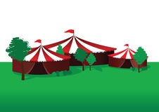 Summer circus background Stock Image