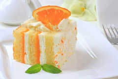 Summer citrus cake Royalty Free Stock Photography