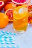 Summer citrus drinks Stock Photo