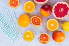 Summer citrus drinks Royalty Free Stock Photos