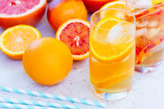Summer citrus drinks Royalty Free Stock Image