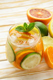 Summer citrus lemonade with orange, lime Royalty Free Stock Photos