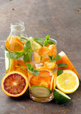 Summer citrus lemonade with orange, lime Stock Images