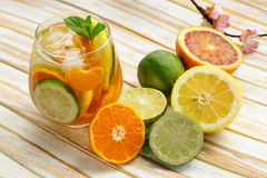 Summer citrus lemonade with orange, lime Royalty Free Stock Photography