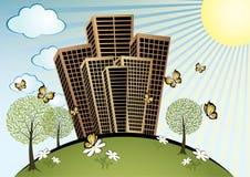 Summer in City vector illustration