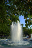 Summer city fountain Royalty Free Stock Photography
