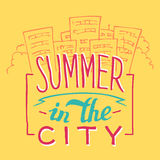 Summer in the City hand-lettering Royalty Free Stock Photo