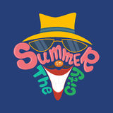 Summer in the city. Hand lettering vector illustration Royalty Free Stock Photography