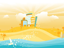 Summer Cityscape Royalty Free Stock Images