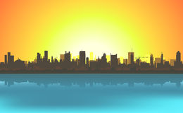 Summer Cityscape Background Stock Photo