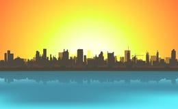 Summer Cityscape Background Stock Photo