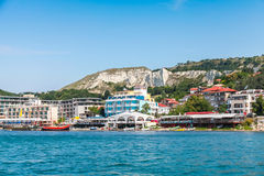 Summer cityscape of Balchik town. Bulgaria Royalty Free Stock Photography