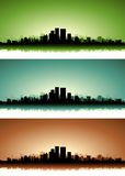 Summer Cityscape Banner Set Stock Photo