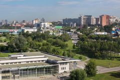 Summer cityscape of the city of Novosibirsk. Novosibirsk, Russia - July 20, 2013: Summer cityscape of the city of Novosibirsk Stock Image