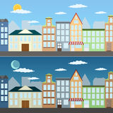 Summer cityscape illustration Stock Photo