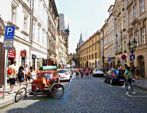 Summer cityscape in Prague Royalty Free Stock Images
