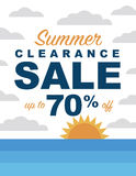 Summer clearance sale Stock Photo