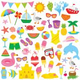 Summer Clipart for kids stock photos