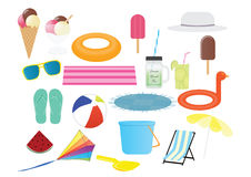 Summer Cliparts Royalty Free Stock Photos