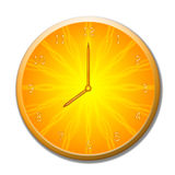 Summer clock Royalty Free Stock Image