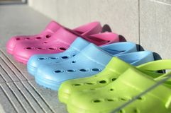 Summer clogs Stock Photography