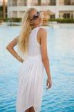 Summer closeup shot of a beautiful caucasian girl Royalty Free Stock Photo
