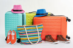 Summer clothes for beach recreation. Royalty Free Stock Photography